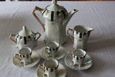 Italian 19th century porcelain coffee set.