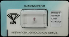 0.13 ct Natural Fancy Intense Purplish Pink Diamond – NO RESERVE