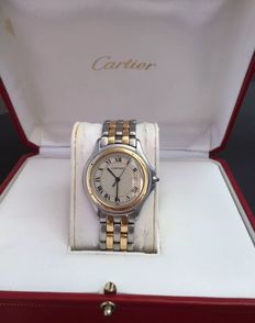 CARTIER COUGAR quartz, steel and gold - Unisex watch - 1990s