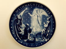 Rosenthal - Christmas plate 1948, Richard Hoffmann, Verkündigung an die Hirten (Annunciation to the shepherds)