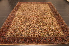 Magnificent hand-knotted oriental carpet - Indo Nain - 222 x 310 cm - made in India at the end of the 20th century
