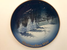 "Rosenthal - Christmas plate 1950, ""WALDWEIHNACHT"""