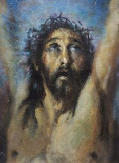 Ramón Borrell i Plà (1876 - 1963) -  The face of Christ