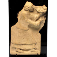 Roman Terracotta Campana Relief with Offering Scene - 18 cm. H.