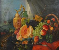 Unsigned (19th century) - A still life of fruits and jug