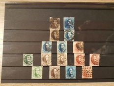 Belgium 1849/1863 - selection of first editions - OBP 1/16