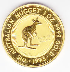 Australia - 100 Dollars Nugget 1993 1 ounce gold