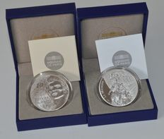France – 10 Euro 2013 'Noureev' and 2014 'Jean-Philippe Rameau' – silver