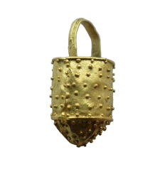Early medieval viking gold bucket situla pendant - 17 mm