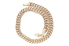 Yellow gold, double curb link bracelet in 14 kt