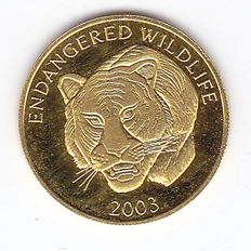 "Laos - 1000 Kip 2003 ""Tiger"" - gold"