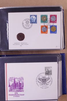 Switzerland, Austria and Liechtenstein 1962/1991 – Collection of 800 First Day Covers in 9 small albums