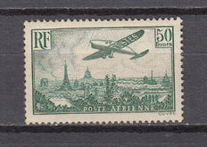 France 1936 – Plane flying over Paris – Yvert No. 14