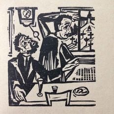 Ernst Ludwig Kirchner (1880-1938) - Two men