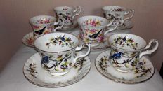 Woodland Series - lot of 6 cups and saucers, Royal Albert