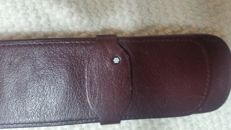 Montblanc Red leather case for 2 units