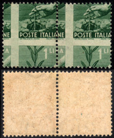 Republic of Italy - 1946/7 - Democratic - 3 blcoks with variety - MNH