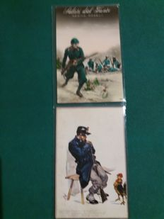Italian postcards,1 war