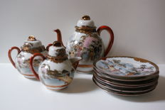Thin porcelain Japanese tea set second half 20th century