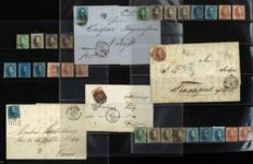 Belgium 1863 – Small study perforated Medallion with perforation inconsistencies, colour nuances and letters – OPB 13/16B