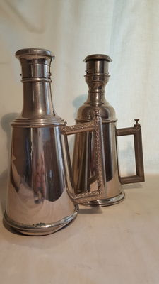Rare antique large (hairdressers) powder spreaders