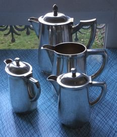 Set of 4 silver plated pots
