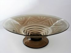Portieux - Art Deco fruit bowl/coupe with etching motifs