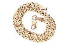 Yellow gold curb link bracelet in 14 kt