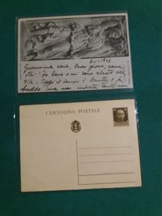 Lot of 30 Italian postcards many posted, 2 of the war