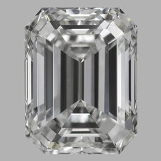 0.63 ct Emerald Cut Brilliant Diamond E VS2 IGI -Original Image-10X - Serial# 224