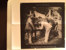World War I Germany - 1914-1918 - Glass slides 21 x - in box