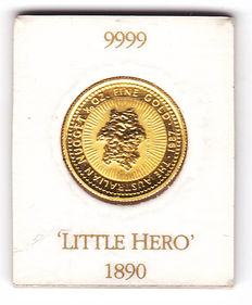 Australia - 15 dollar 1987 Nugget 'Little Hero 1890' - 1/10 oz gold