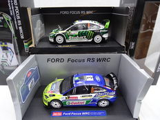 Sun Star - Scale 1/18 - Lot with Ford Focus RS WRC08 #6 and Ford Focus WRC #3