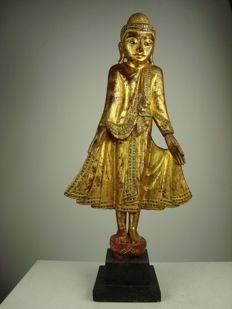 Wooden Buddha - Burma - Second half 20th century