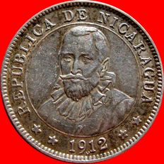 Republic of Nicaragua – 10 cents from Cordoba – Heaton- 1912. Scarce.