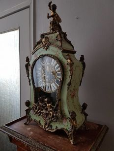 Large painted Boulle clock - 1960/1970