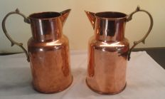 Nr. 2 Old copper Jugs