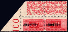 Trieste, Zone A 1949, AMG-FTT (Allied Miltary Government-Free Territory of Trieste), parcel post, 50 Lira variety, certified MNH, unique item