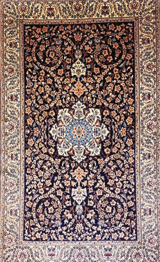 121. carpet Nain silk with wool Persian private collection - 20th century