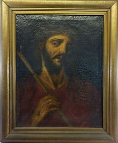 Spanish school (18th century)  The face of Christ - Ecce Homo