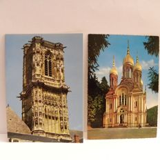 International collection of cathedrals, churches and monasteries 583 postcards, largely from the 1960's
