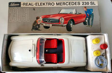 SCHUCO, Western Germany - Length 25 cm - Tin Real-Elektro-Mercedes 230SL with battery engine, 60s