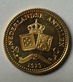 The Dutch Antilles - 50 guilders gold - Juliana 1979