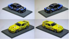 Neo - Scale 1/43 - Lot with 2 models:  Ford Escort MkII RS Gr.2, No.9, D&W, ETCC, Sizilien and Porsche 968 Turbo RS