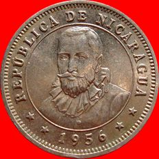 Republic of Nicaragua – 25 cents from Cordoba, 1956