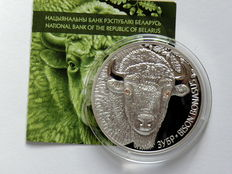 White Russia - 20 roubles 1012 European bison - silver