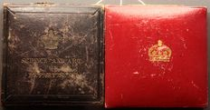 United Kingdom - Medals 1902 'King Edward VII Coronation' (2 pieces) silver and bronze in presentation boxes