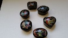 6 music boxes by franklin mint fine porcelain fairy tales 1988