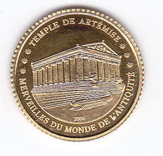 "Ivory Coast – 1500 francs 2006 ""Temple de Artémise"" – gold."