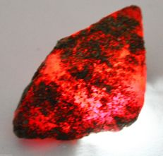 Red Ruby Natural Uncut Rough Raw Gemstone - 48 x 35 x 27 mm -, 69,4 grams